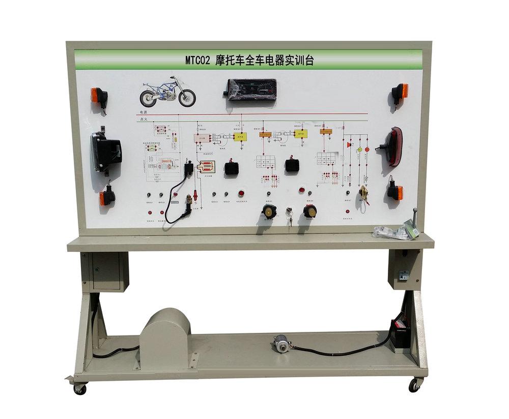 面板上安装有检测端子,可直接在面板上检测整车电器各系统电路元件的
