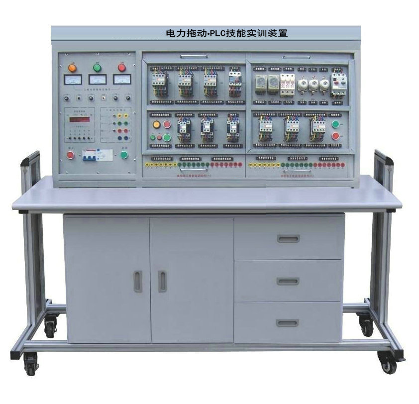电力拖动培训组件(三)    4,plc主机及转换器培训组件(三菱fx1n-24mr)